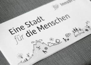 """Portfolio Folder """"Eine Stadt für die Menschen"""""""