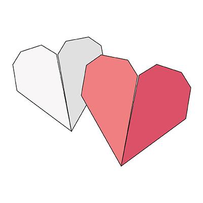 Illustration Herzen, Symbol für Motivation